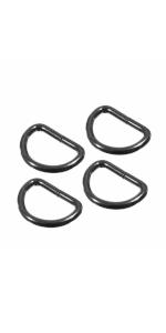 gunmetal d-rings
