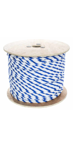 Twisted Polypropylene Pool Rope 3-Strand Polypro Cord Lightweight Utility Rope Landlines Safety Rope