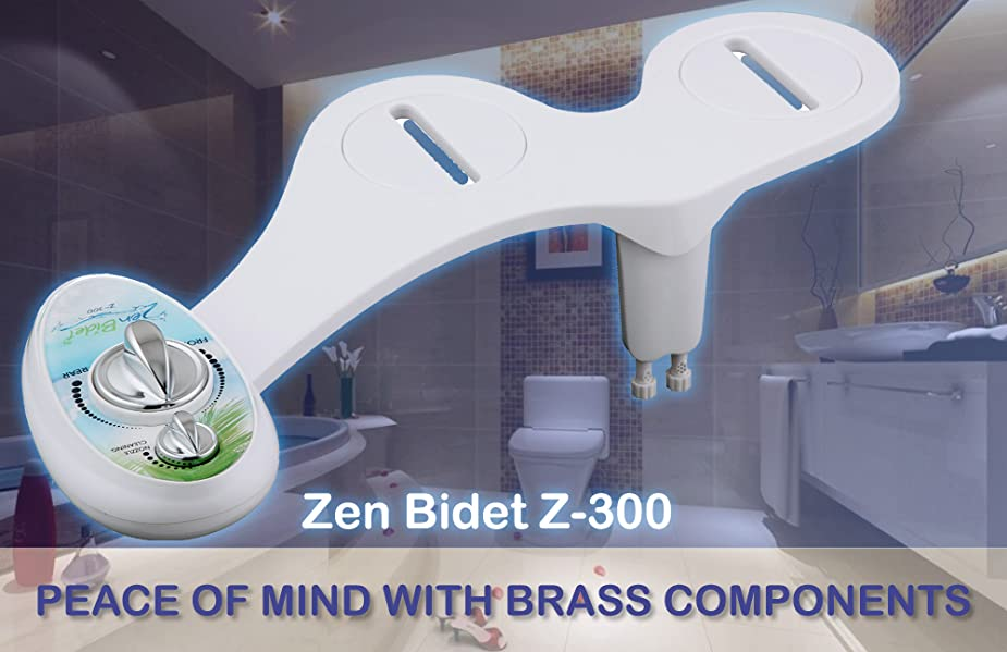 zen bidet z300 two nozzle fresh water bidet toilet seat attachment with brass components self cleaning nozzles and ceramic valves