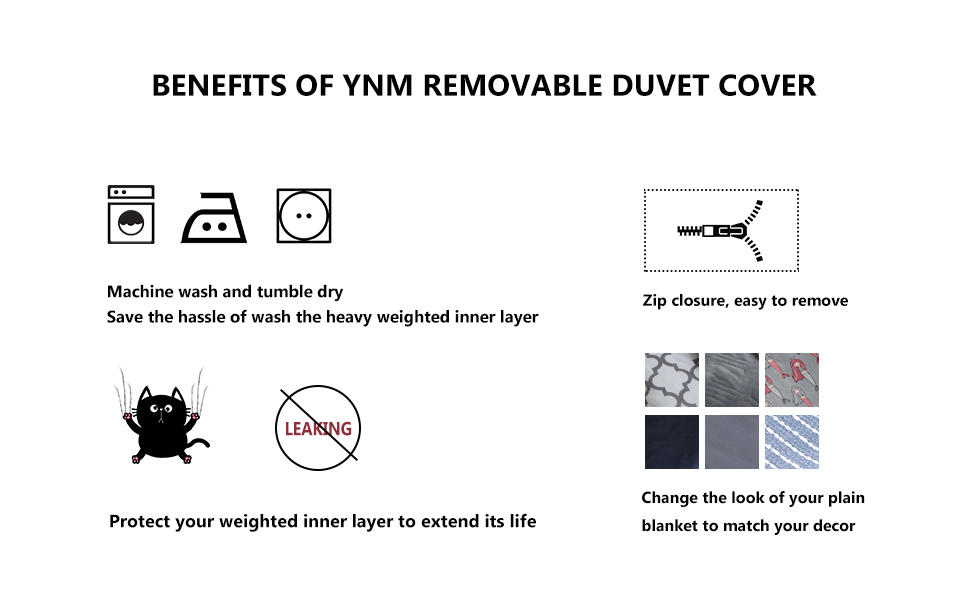 Amazon Com Ynm Minky Duvet Cover For Weighted Blankets