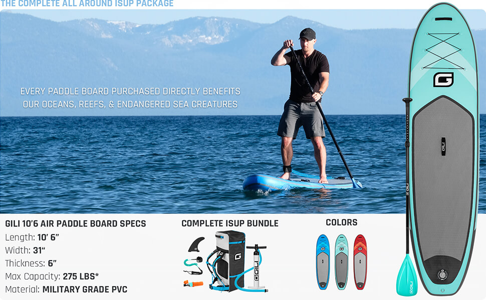 stand up inflatable paddle board gili isle surf irocker sup isup ten toes all around best