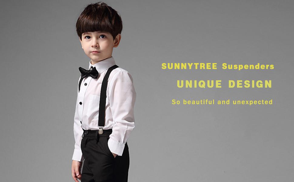 """Suspenders Children 1/""""x30/"""" FULLY Elastic White Stars NEW"""
