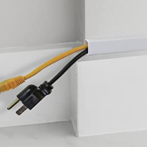 Run cables in the self adhesive raceway kit