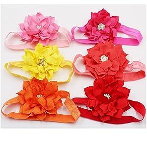 Big Flower Hair Bow Newborn Bow Boutique Bow Girls Hair Bow Toddler Bow Aqua Lotus Flower Headband Christmas Headband Baby Hair Bow