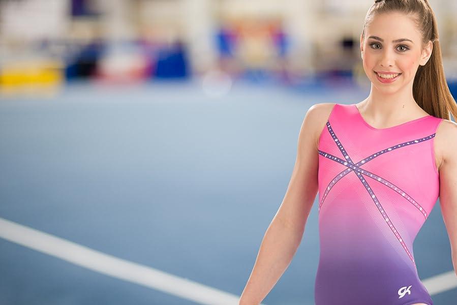 6d854c407 Amazon.com  GK Glitz   Glam Gymnastics Leotard (Pink to Purple ...