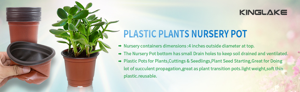 Plastic Plants Nursery Pot Pots Seedlings Flower Plant Container Seed Starting Pots