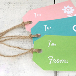 gift tags twine string