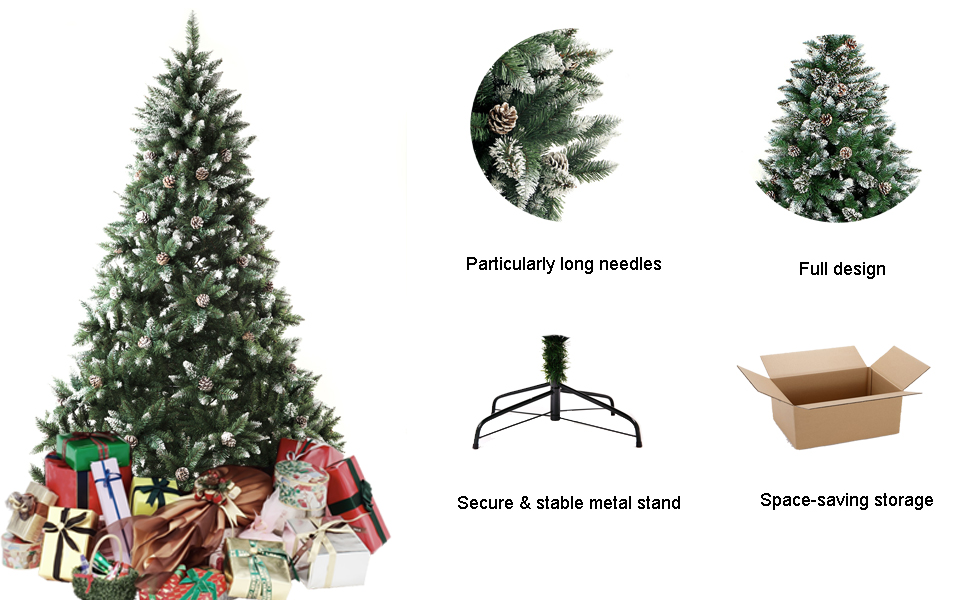 Amazon.com: Senjie Artificial Christmas Tree 6,7,7.5 Foot