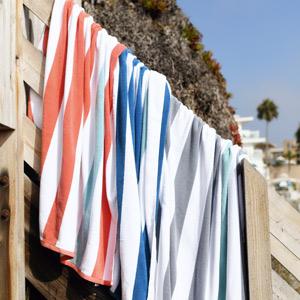 laguna beach textile, cabana towel, beach towel, striped towel, thick beach towel