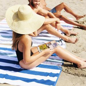 laguna beach textile company, beach towel, cabana towel, luxury beach towel, thick beach towel
