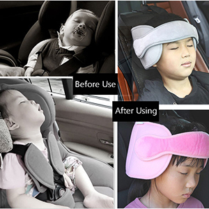 rosepartyh Car Head Support Baby Car Seat Head Strap Nap Aid Holder Belt Neck Protection Belt for Children 4Pcs Adjustable