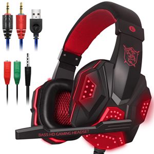 38efa361ded Amazon.com  Gaming Headset with Mic and LED Light for Laptop ...