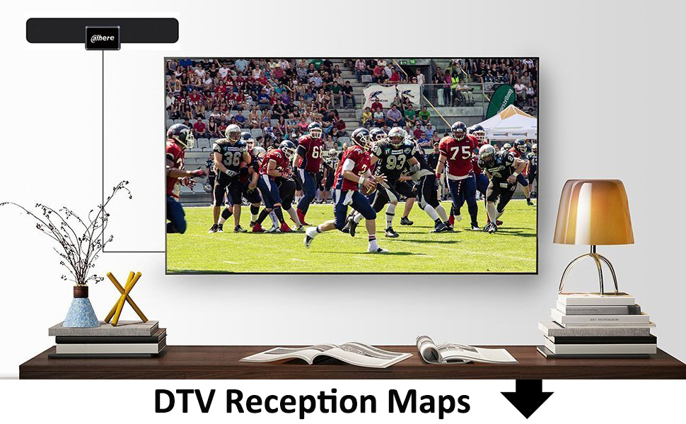 Amazoncom TV Antenna Signal ReceiverAhere HDTV Receiver For - Fcc dtv reception map