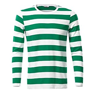 KIRA Men's Casual Long Sleeve Cotton Striped Shirt | Amazon.com