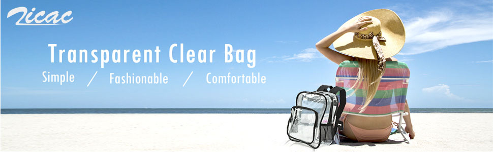 Zicac Transparent Clear Backpack