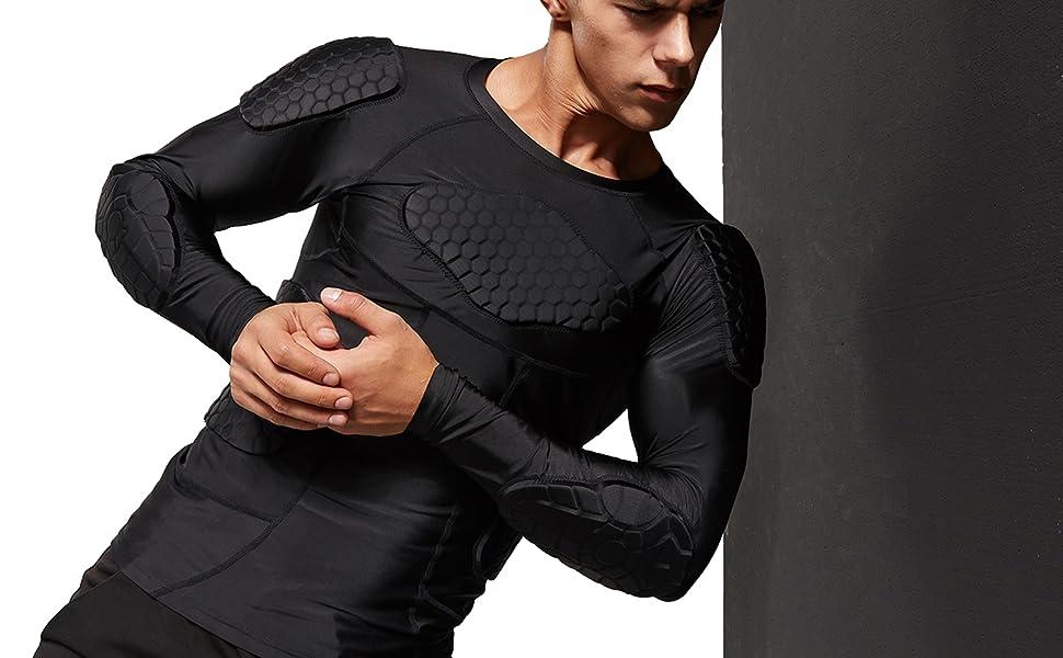 Amazon.com: Zicac - Camiseta de compresión acolchada para ...