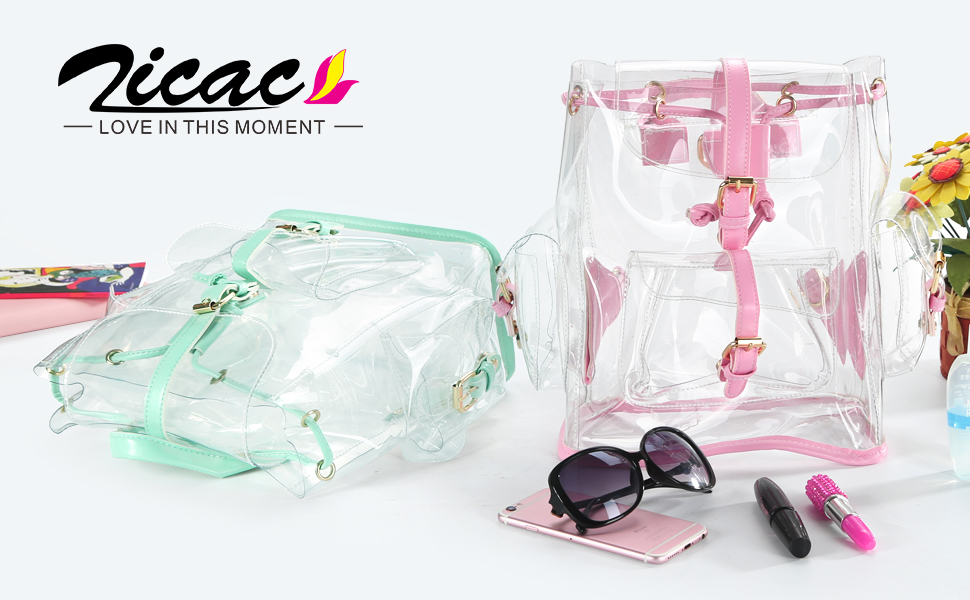 clear backpack for girl