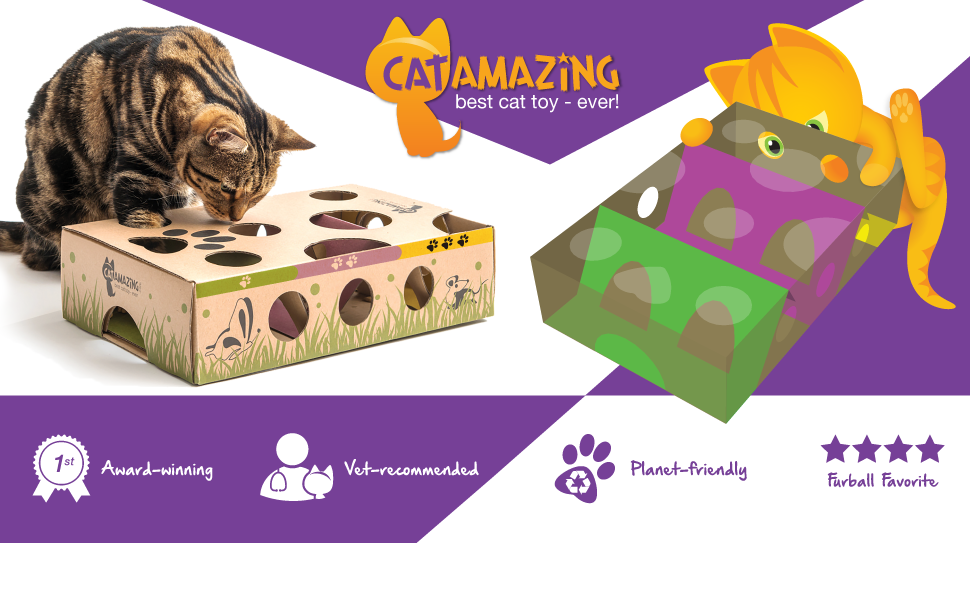 Cat Amazing Interactive Puzzle Toy & Puzzle Feeder for Cats
