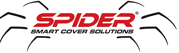 SPIDER Patented Waterproof Heavy-Duty Truck Tarp with Adjustable Hooks,  Cargo Net Alternative, for Standard Bed Pickup: 8 5' x 7 5' (4 Built-in  Bungee