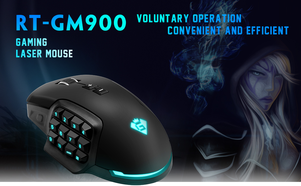 ⭐️Gamkoo RGB Wired Gaming Mouse,【24000 DPI】【Programmable 17 Buttons】【 Breathing Light】【Interchangeable Side Button】【Macro Setting】【Ergonomic Mouse】Gaming mice for Windows PC Games
