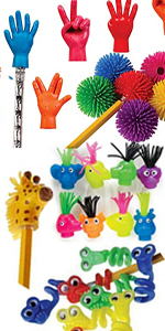 Octo Squishies with 1 /& Wiggle Eye Pencil Topper Pack Super Secret Surprise Sack Emoji 36 Pc