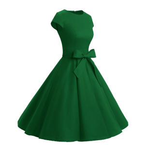 c1a5965a644 Amazon.com  Dressystar Women Vintage 1950s Retro Rockabilly Prom ...