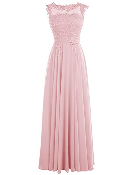Dressystar Long Scoop Chiffon Bridesmaid Prom Dresses with