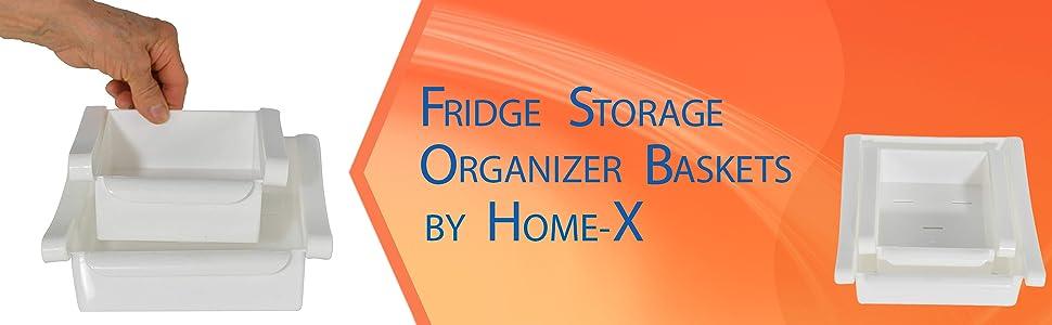 Amazon.com: HOME-X - Cestas organizadoras para nevera ...