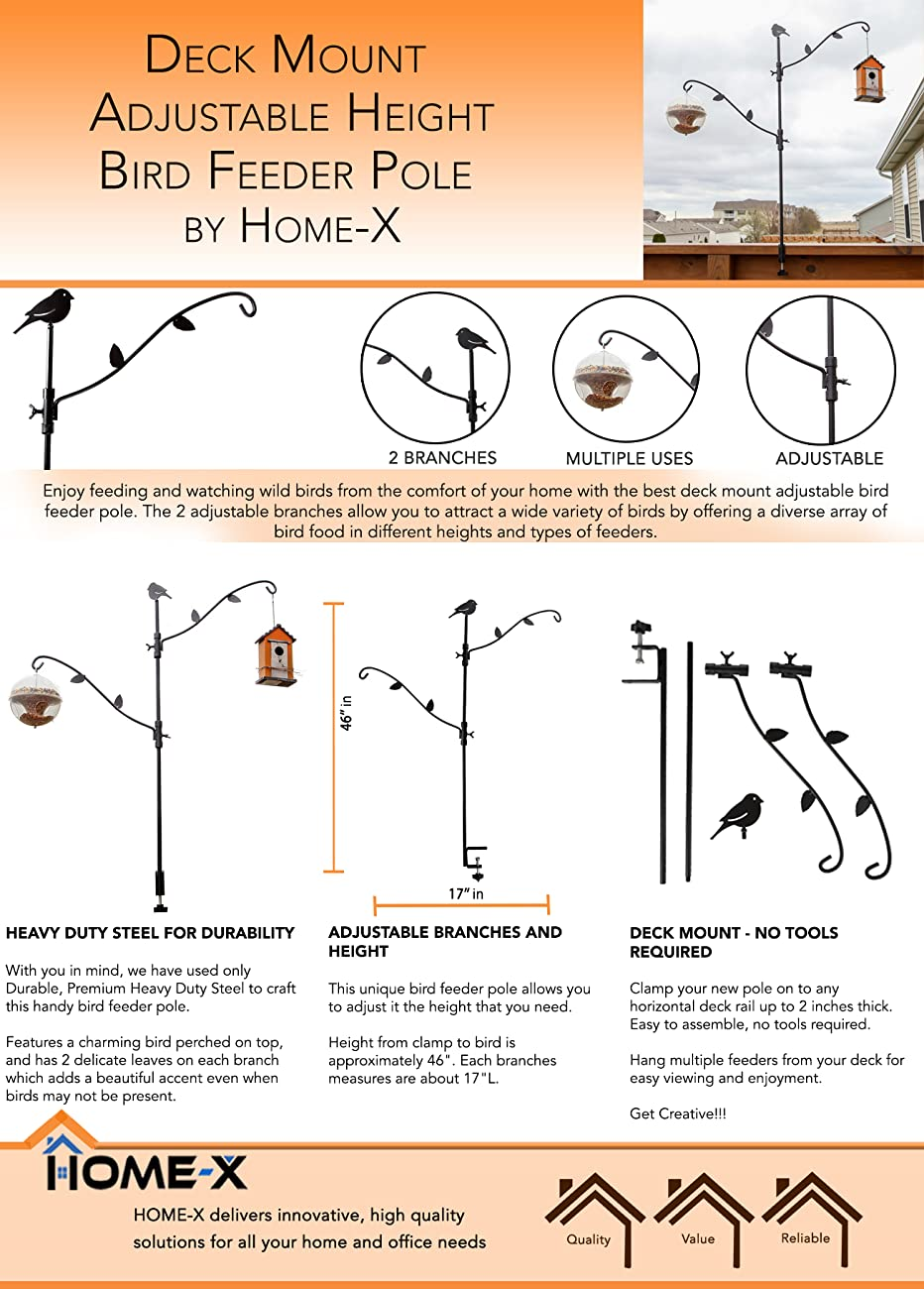 hangers deck planters reach heavy graybunny baskets extended feeder for clamp duty feeders hook suet and chimes decks inch lanterns pole bird wind more black