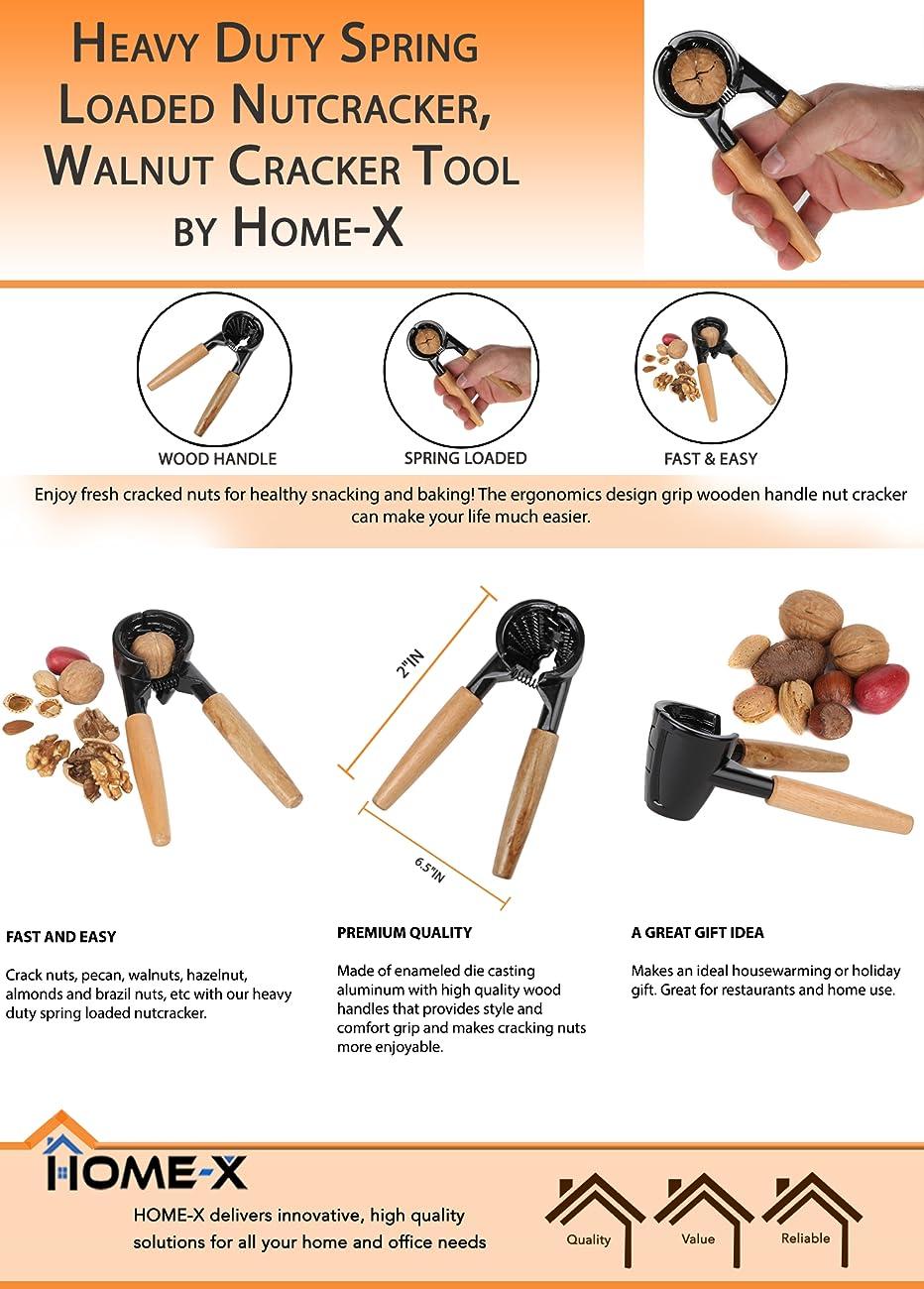 Amazon Com Home X Heavy Duty Spring Loaded Nutcracker Premium