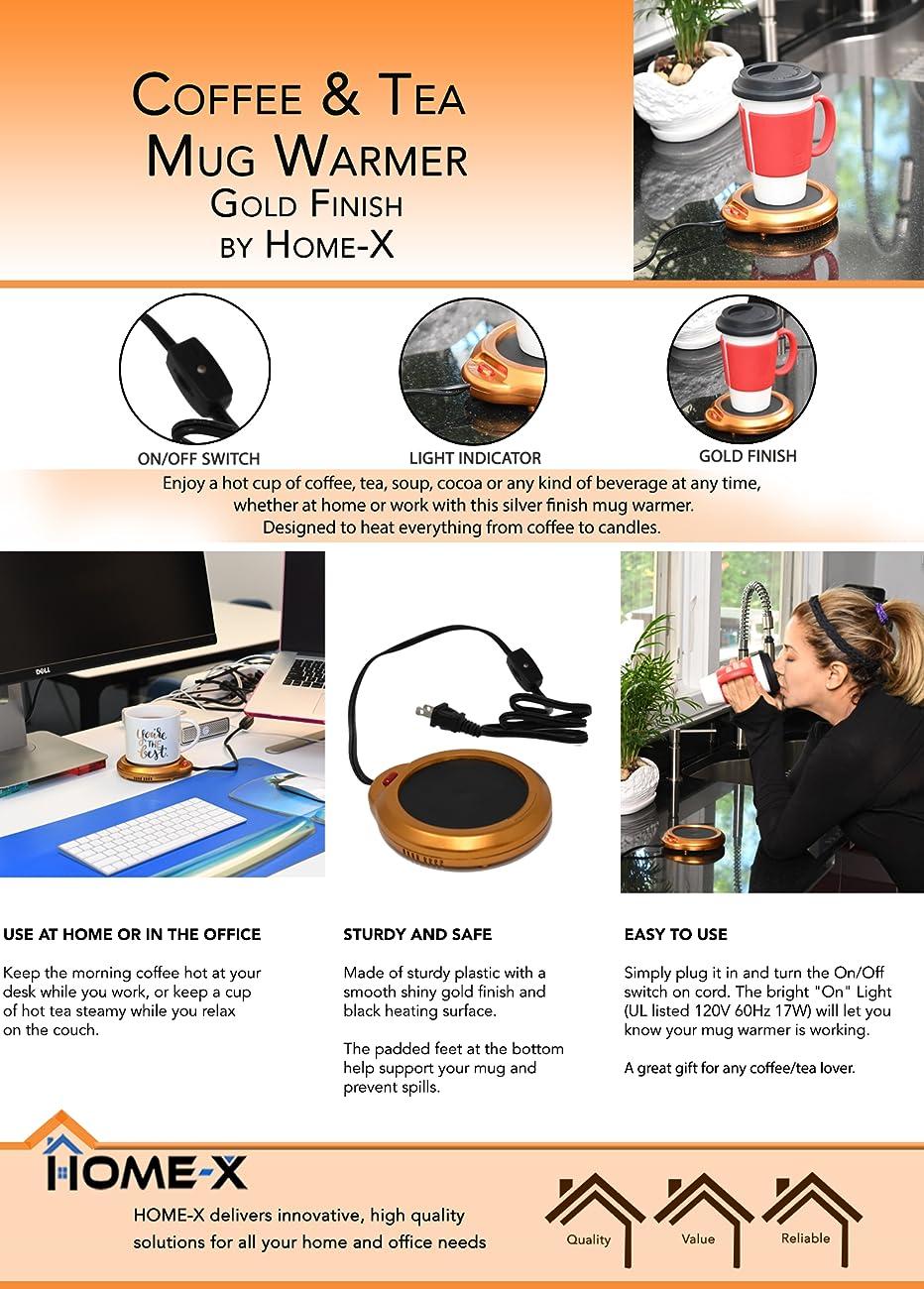 Mug Warmer Home-X Multipurpose Heating Pad for Desktop Heated Coffee /& Tea or Candle /& Wax Warmer Copper Finish