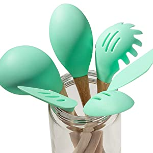 set kit package pack giftset essential silicone rubber non-stick long-lasting durable cyan green