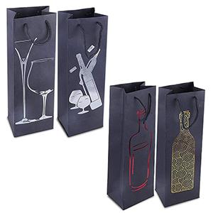 10 Bolsas Bolsas de Vino de Papel Kraft Cumplea/ños para Acci/ón de Gracias Bolsa de Almacenamiento de Vino de Papel Kraft Botella de Papel Kraft Bolsas de Regalo Bolsas de Vino