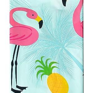 """Piña /& Flamingo Mesa de fiesta de verano cubierta 54/""""x 84/"""" Niñas Vajilla Cumpleaños"""