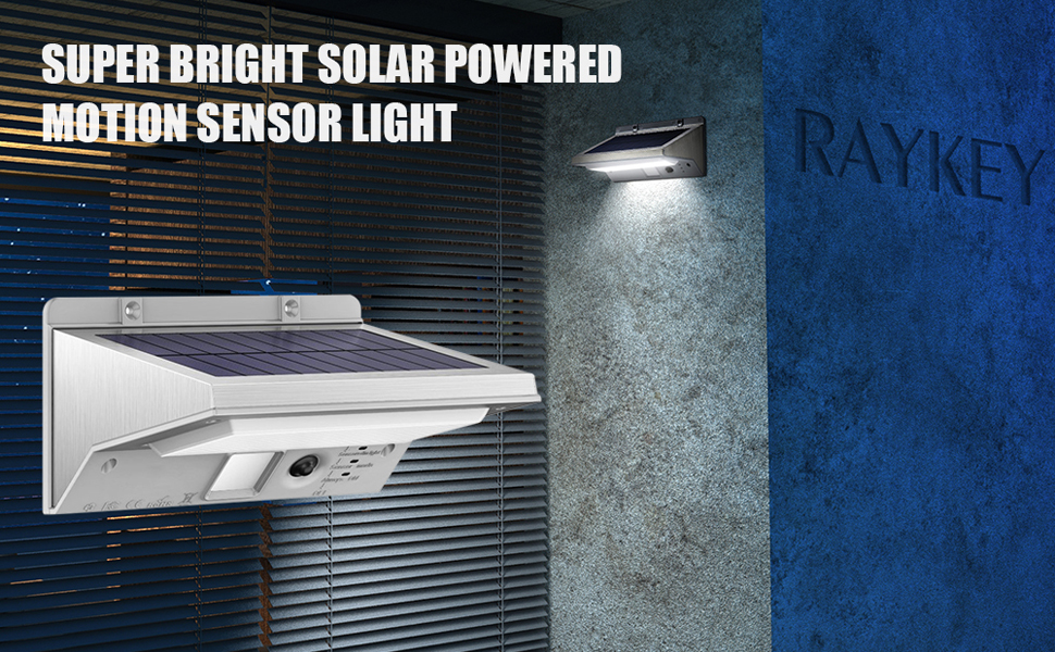 Stainless Steel Solar Lights Raykey Super Bright 21 Led