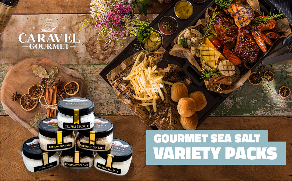 Combination variety value packs holiday gift hostess foodie salt lover food cooking gourmet dad mom
