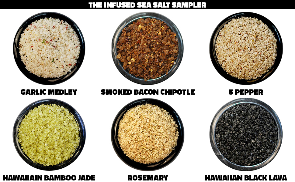 infused sea salt sampler foodie gift reusable tin great gift holiday anytime birthday teacher wife