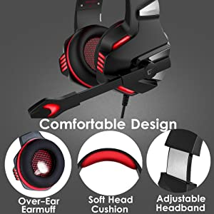 Micolindun Over Ear Gaming Headphones