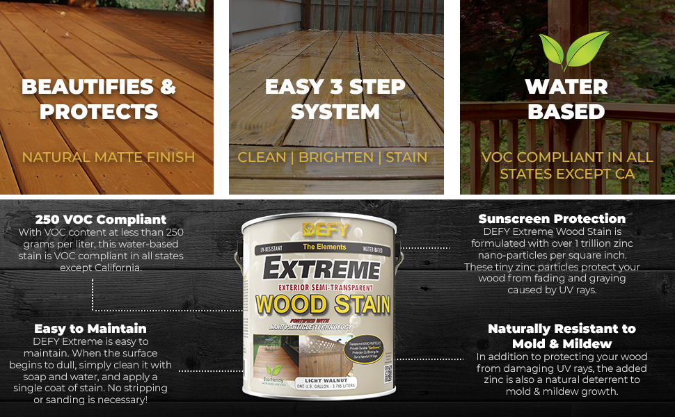 Defy Extreme 1 Gallon Semi Transparent Exterior Wood Stain Cedar