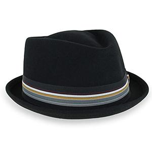 d425be25 Belfry Crushable Porkpie Fedora Hat Men's Vintage Style 100% Pure ...