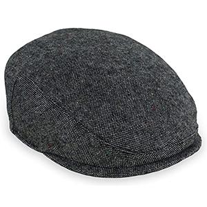grey tweed flat cap