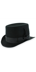 XLarge, Grey Crushable Top Hat Soft Mens 100/% Wool Felt in Black and Grey