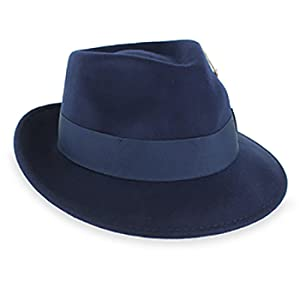 Belfry Gangster 100% Wool Stain Resistant Crushable Dress Fedora in ... 946086a35d5