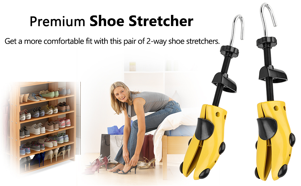 Get a more comfortable fit with this pair of 2-way shoe stretchers.