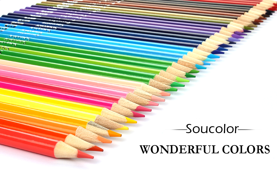 amazon com soucolor 160 colored pencils set artist drawing coloring