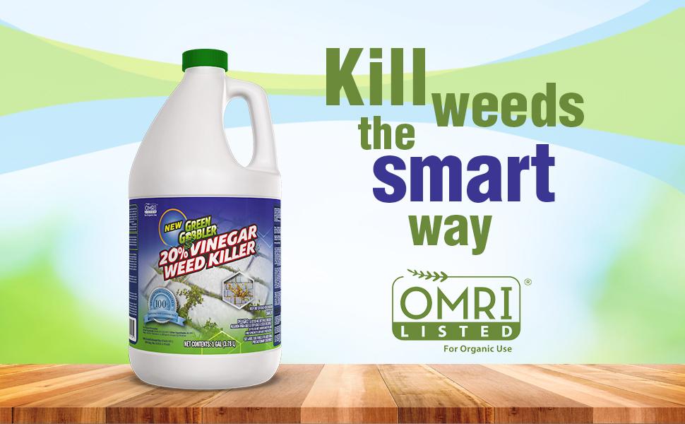 Green Gobbler Vinegar Weed & Grass Killer   Natural and Organic Weed &  Grass Killer   Pet Safe   1 Gallon