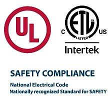 UL ETL listed