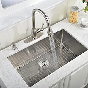 30 inch 18 gauge 10 inch deep drop in undermount single bowl stainless steel kitchen sinks - Drop In Kitchen Sink