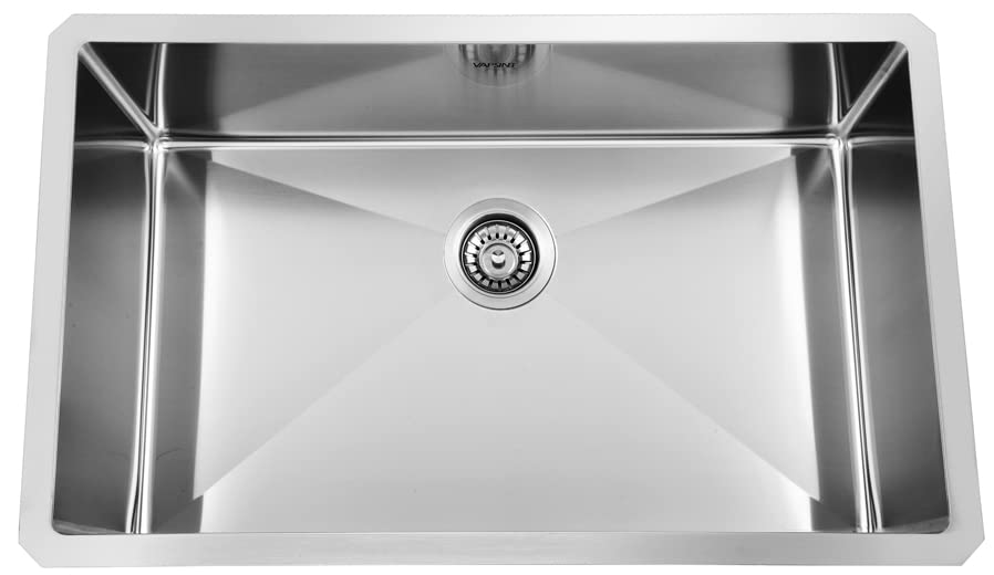 Superbe 30 Inch 18 Gauge 10 Inch Deep Handmade Drop In Undermount Single Bowl  Stainless Steel Kitchen Sinks