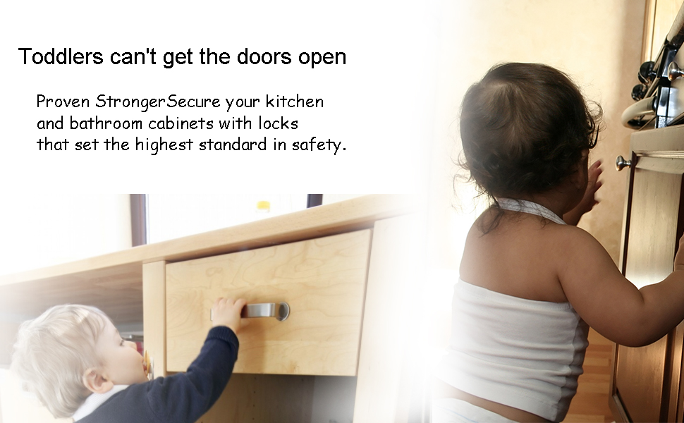 Baby Proofing Mangetic Cabinet Locks Child Safety Drawer Latches